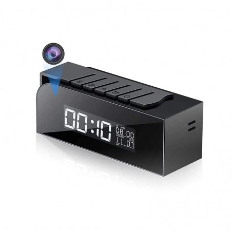 HD WIFI camera in a clock with night vision and motion detection