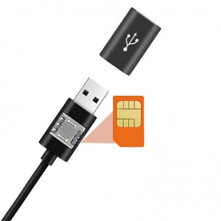 Cable GSM espion écoute à distance avec localisation LBS