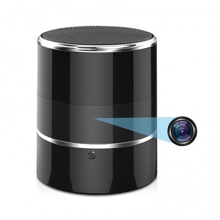 Enceinte Bluetooth camera rotative espion WIFI Full HD Détection de mouvement